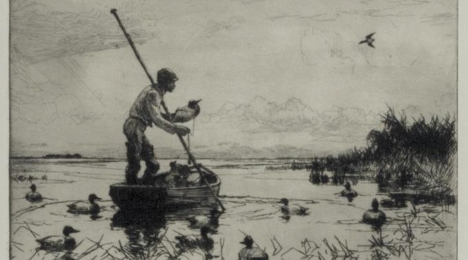 Setting Decoys by Frank W. Benson